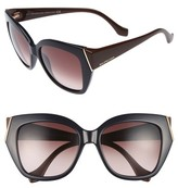 Balenciaga Women's 57Mm Cat Eye Sunglasses - Dark Havana/ Gradient Green