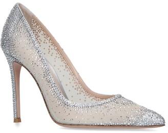 Gianvito Rossi Embellished Rania Pumps 105