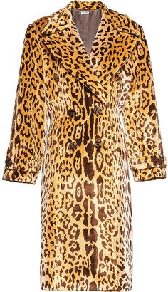 Miu Miu Double-Breasted Leopard Coat