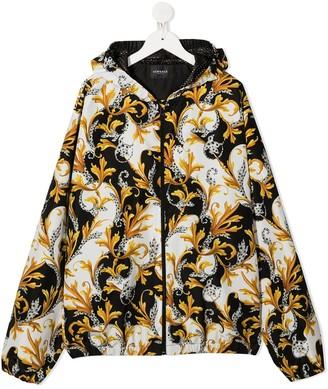 Versace Barocco print zip-up hoodie