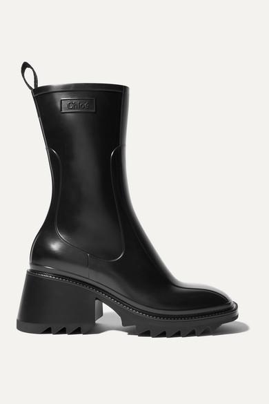 Chloé Betty Rubber Boots - Black