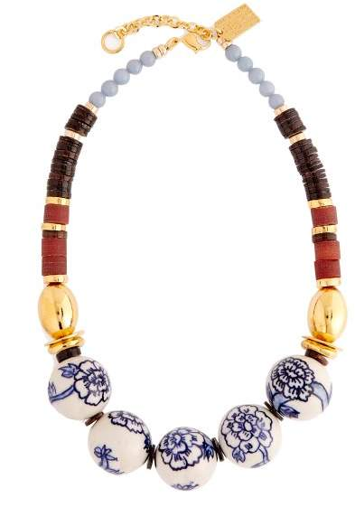 Lizzie Fortunato New Blue III large beaded necklace