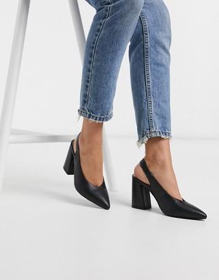 Miss Selfridge slingback heeled shoes in black