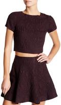 Alice + Olivia Sarina Short Sleeve Boxy Crop Shirt
