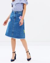 Warehouse Embroidered Skirt