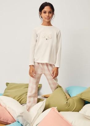 MANGO Embossed printed long pyjamas