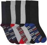 M&Co Stripe detail socks seven pack