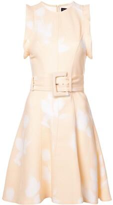Proenza Schouler Rose Imprint Belted Dress