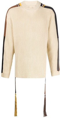 Jil Sander Side Stripe Cotton Jumper