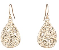 Alexis Bittar Woodland Fantasy Crystal-Encrusted Teardrop Earrings