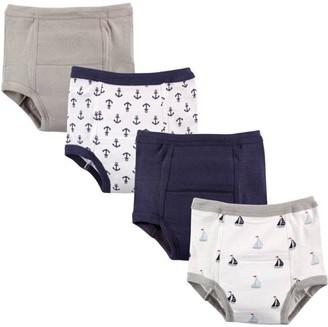 Luvable Friends Toddler Boys Training Pants Underwear, 4-Pack (Sizes 12M-4T)