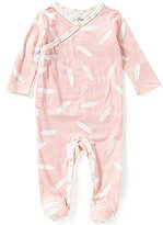 Jessica Simpson Baby Girls Newborn-9 Months Feather-Print Footed Coverall