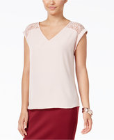 Thalia Sodi Thali Sodi Lace-Trim Top, Only at Macy's