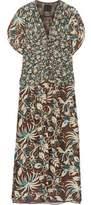 Anna Sui Floral-Print Silk Crepe De Chine Maxi Dress