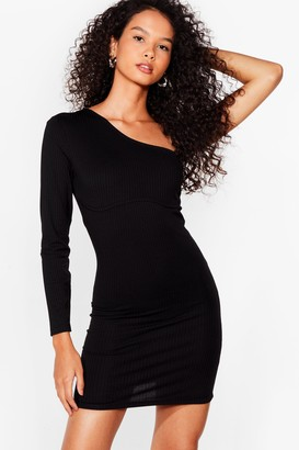 Nasty Gal Womens Seams Like Fun One Shoulder Mini Dress - Black