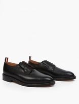 Thom Browne Black Pebblegrain Leather Bluchers