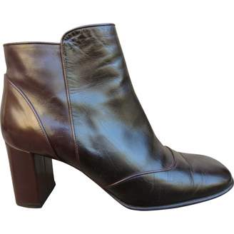 Louis Vuitton \N Brown Rubber Ankle boots