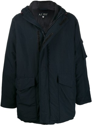 Giorgio Armani Pre Owned 1990s Padded Hooded Coat