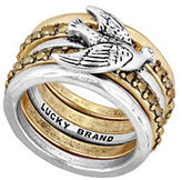 Lucky Brand Sun Kissed Moments Bird Stacked Ring