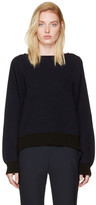 Helmut Lang Navy Side Strap Sweater