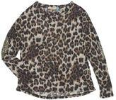 Vintage Havana Girl's Sequined Leopard Print Shirt