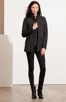 Lauren Ralph Lauren Petite Women's Diamond Quilted Jacket With Faux Leather Trim