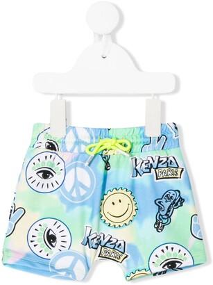 Kenzo Kids Print Mix Shorts
