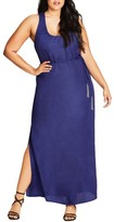 City Chic Plus Size Women's Knot Back Maxi Dress
