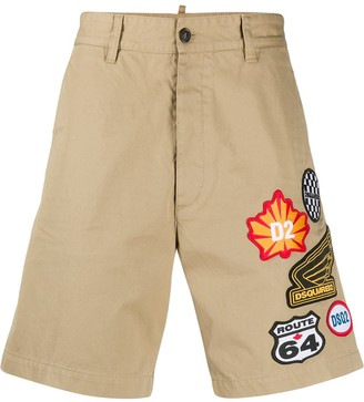 DSQUARED2 Logo Patch Chino Shorts