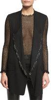Alexander Wang Open-Front Piercing Vest, Black