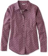 L.L. Bean L.L.Bean Wrinkle-Free Pinpoint Oxford Shirt, Long-Sleeve Relaxed Fit Floral