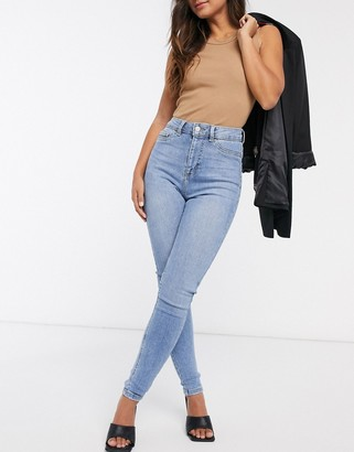New Look clean disco jeans in light blue