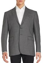Saint Laurent Checked Long Sleeve Jacket
