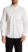 Kenneth Cole New York Grid Print Long Sleeve Regular Print Shirt
