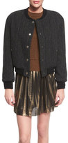 Isabel Marant Handton Button-Front Boy Coat, Black