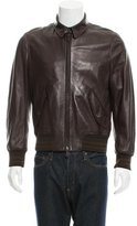 Tom Ford Leather Rib Knit-Trimmed Jacket