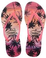 Havaianas Women's Slim Paisage Flip Flops,(35/36 Brazilian) (37/38 EU)