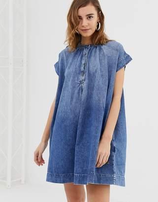 Pepe Jeans Drew denim dress-Blue