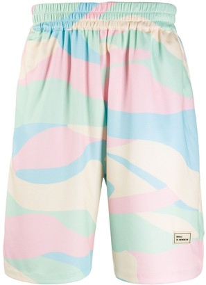 Drôle De Monsieur Ice Cream mesh shorts
