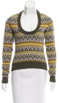 Michael Kors Cashmere Patterned Crew Neck Sweater
