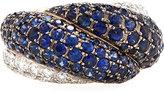 Chopard 18k Sapphire & Diamond Ring, Size 6.5