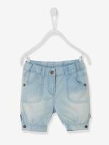 Vertbaudet Baby Girl Cropped Denim Trousers