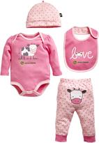 John Deere Pink Cow Layette Set - Infant