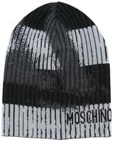 Moschino trompe-l'oeil beanie