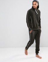 Asos Skinny Jogger With Piping In Towelling