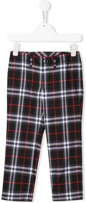 Burberry plaid print trousers