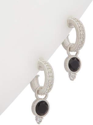 Judith Ripka La Petite Silver 1.54 Ct. Tw. Gemstone Hoops