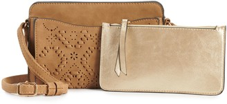 Violet Ray Perforated Wallet On A String Wristlet