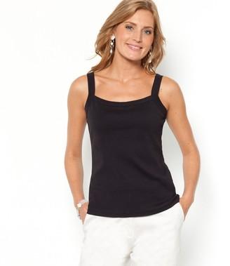 Anne Weyburn Combed Cotton Vest Top