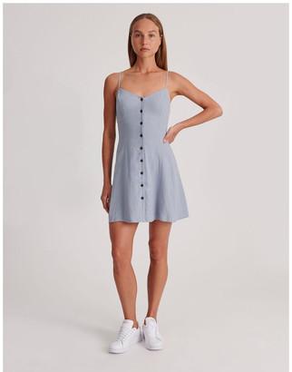 Miss Shop Linen Blend Dress Dusty